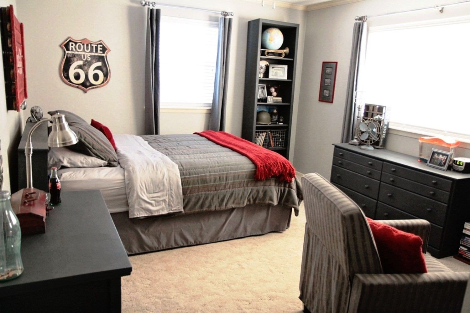 Red and Gray Bedroom Ideas Beautiful Red and Grey Bedroom