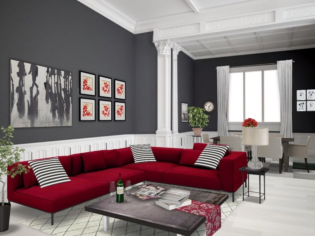Red and Gray Bedroom Inspirational Red Autodesk Homestyler Simplifiinteriors Grey Red Living