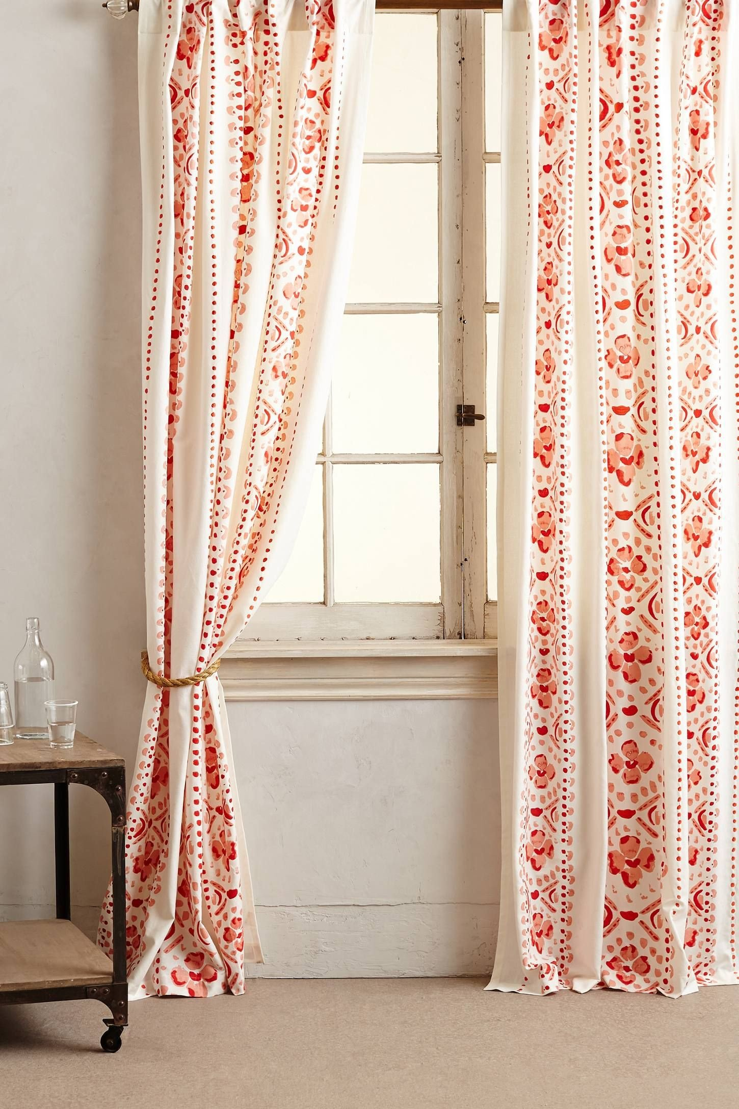Red Curtains for Bedroom Beautiful Printed Lyndley Curtain for the Bedroom