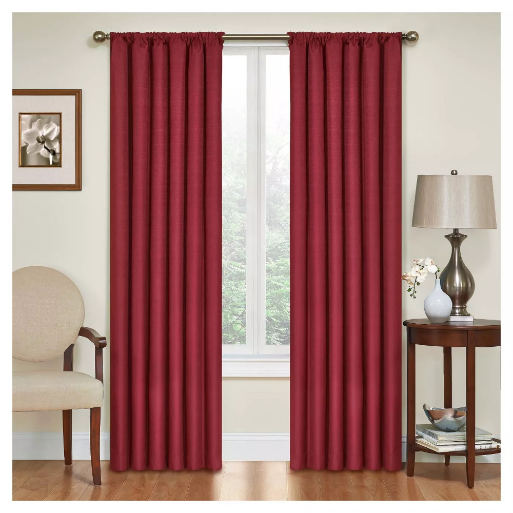 "Red Curtains for Bedroom Elegant Kendall thermaback Blackout Curtain Panel Red 42""x95"