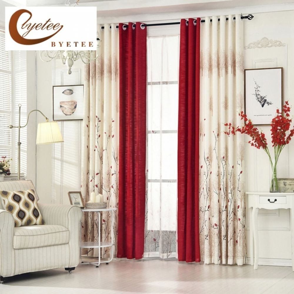 Red Curtains for Bedroom Unique byetee] Pastoral Linen Curtains for Living Room Bedroom