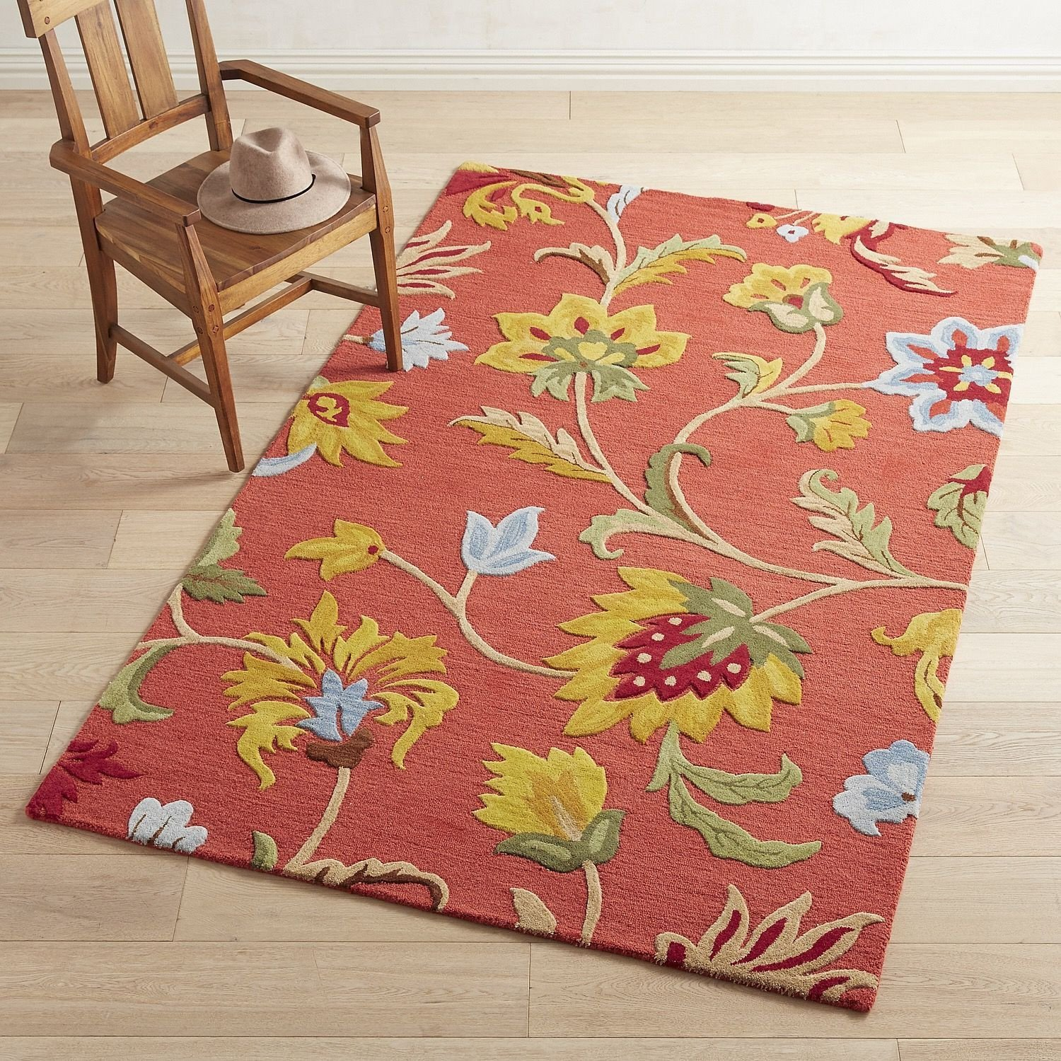 Red Rugs for Bedroom Elegant Cathe Jacobean Floral Red Rug