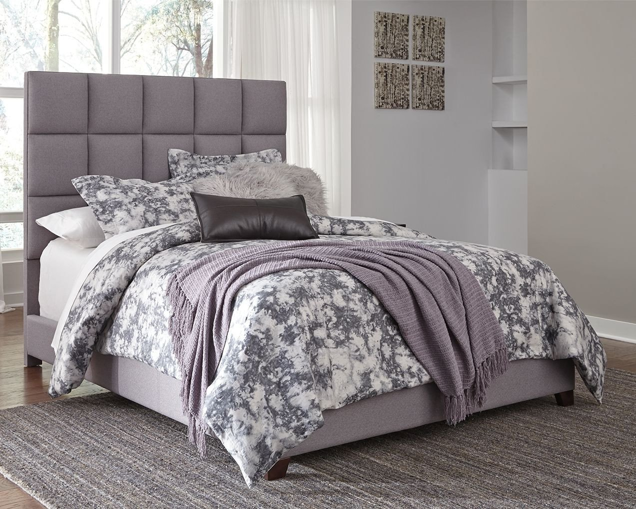"Regency Furniture Bedroom Set Unique Dolante King Upholstered Bed with 10"" Memory Foam Mattress"