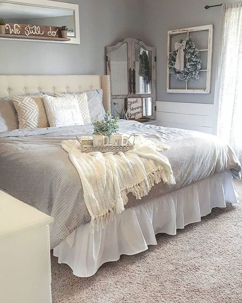 Romantic Bedroom Colors for Master Bedrooms New 40 Farmhouse Style Master Bedroom Decorating Ideas Bedroom