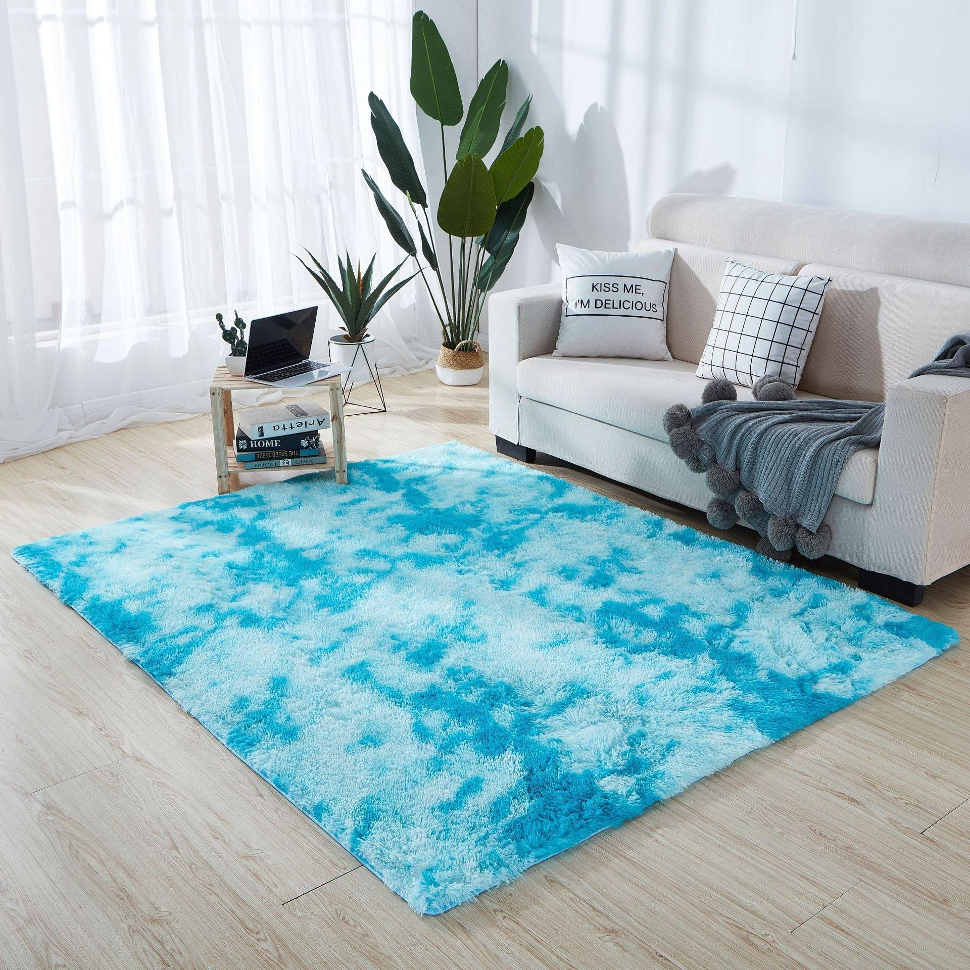 Rug On Carpet Bedroom Luxury Fashion Extra soft Carpet Anti Skid Shaggy Warm area Rug for Indoor Living Room Bedroom Carpet Binding Beaulieu Carpet From Junshengvip $10 06