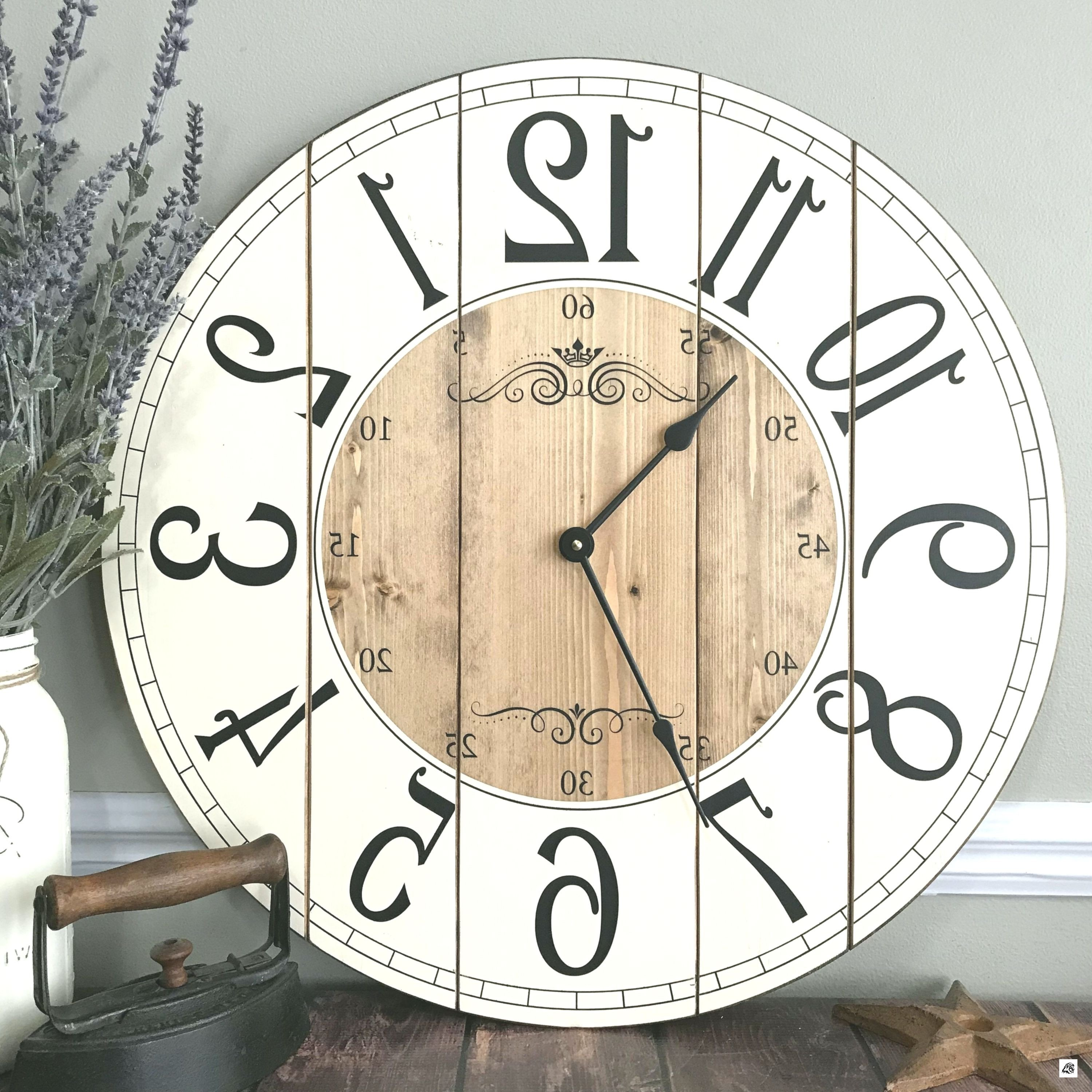 Rustic Bedroom Wall Decor Awesome 22 Inch Farmhouse Clock Rustic Wall Clock Wall Clock