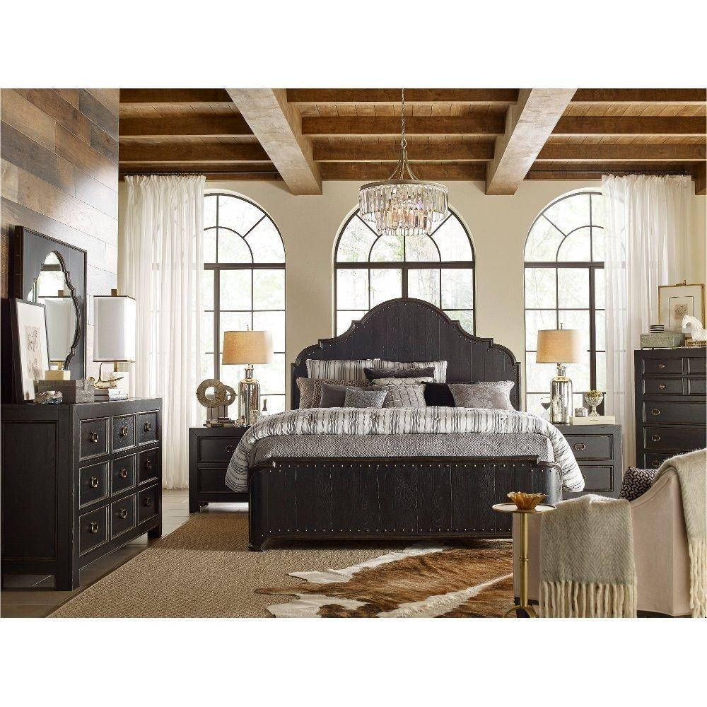 Rustic Queen Bedroom Set Lovely Rustic Traditional Black 6 Piece Queen Bedroom Set Bishop