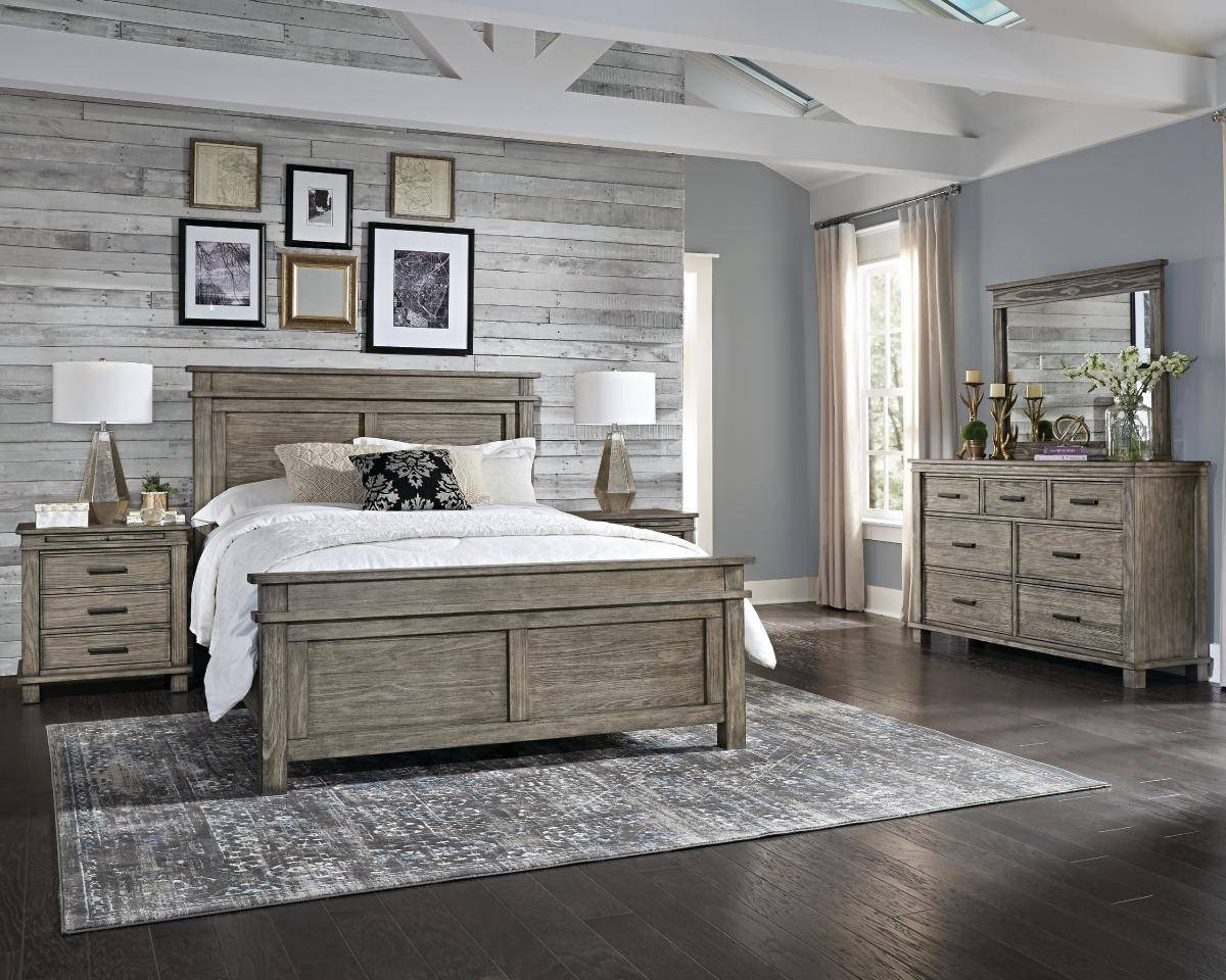 Rustic White Bedroom Set Best Of Rustic Cal King Panel Bedrom Set 4ps Greystone Glpgr5230 A