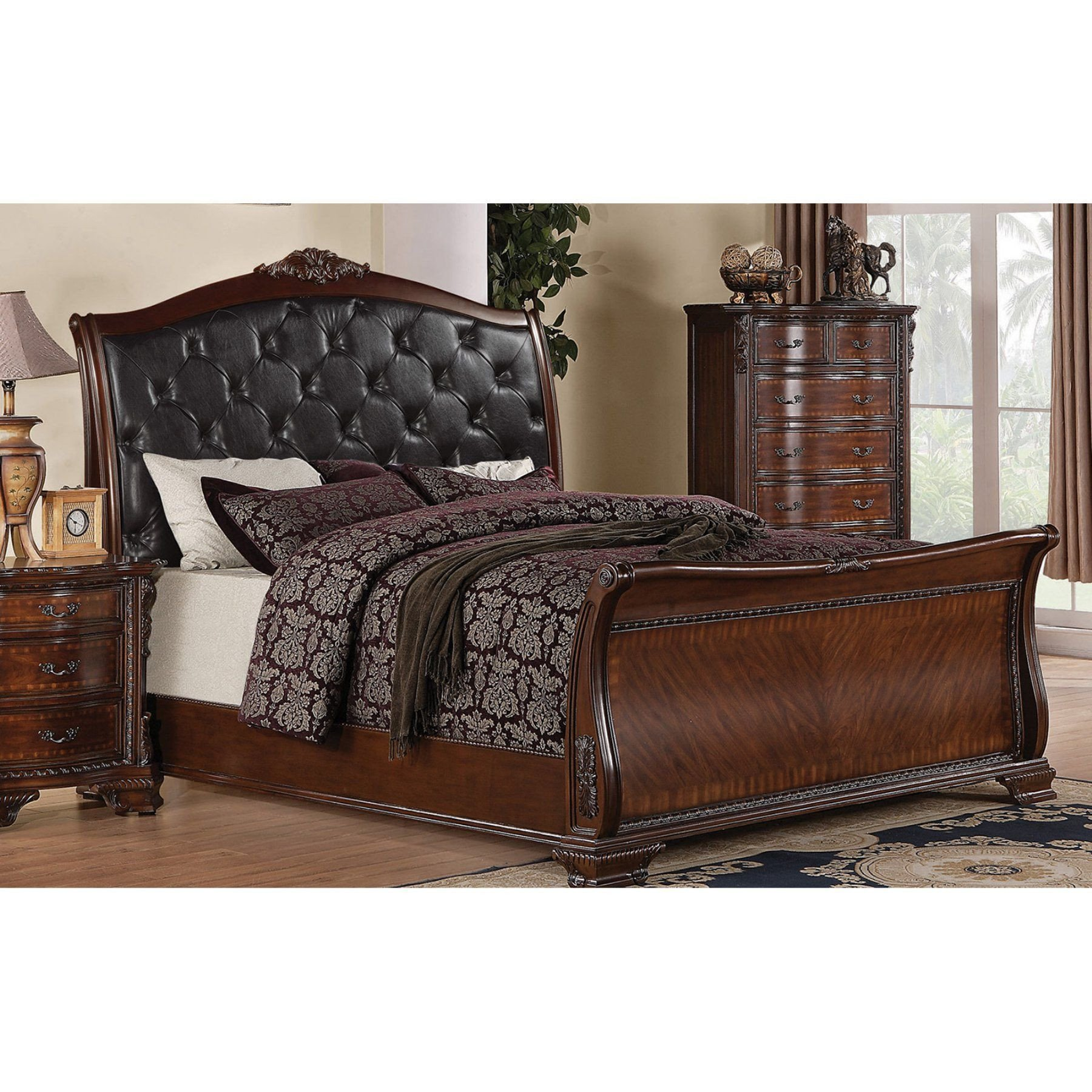 San Mateo Bedroom Set Luxury Coaster Furniture Maddison Tufted Upholstered Sleigh Bed