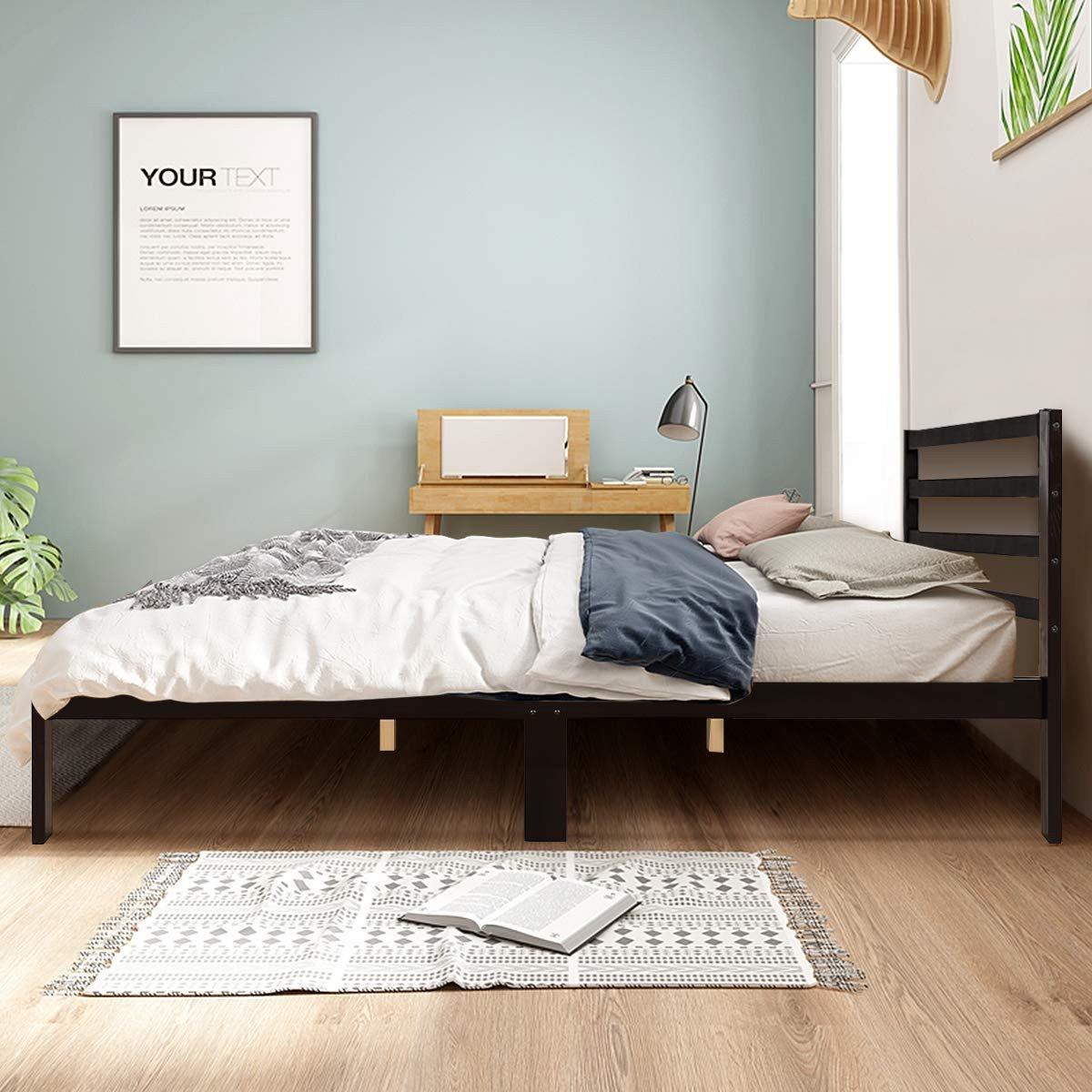 Sears Furniture Bedroom Set Best Of Giantex Modern Wood Platform Bed Frame W Headboard Mattress Foundation Queen 8 Bar Slat Better Support Box Spring Optional Multipurpose Bed Base