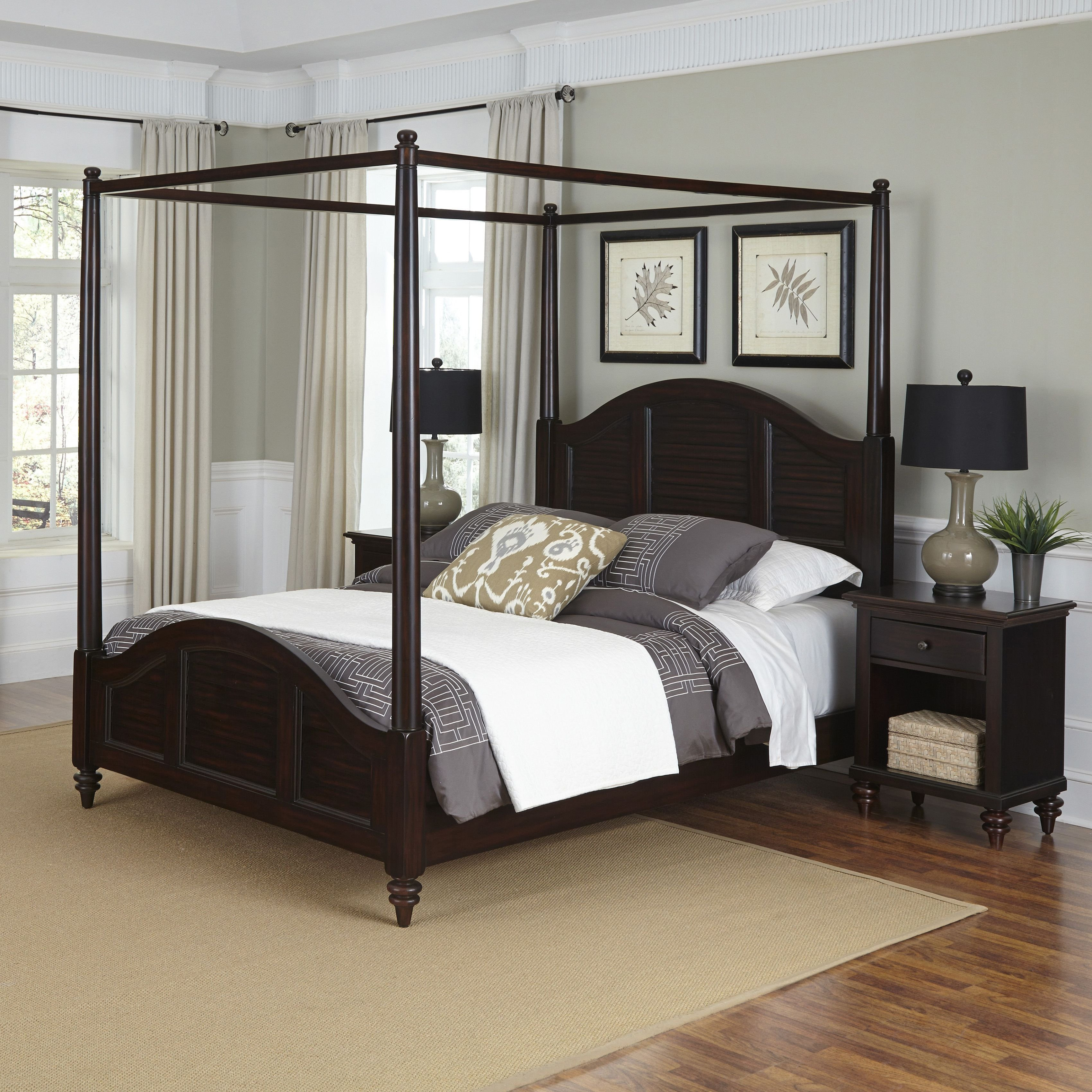 Sears Furniture Bedroom Set Best Of Home Styles Bermuda Queen Canopy Bed and Two Night Stands
