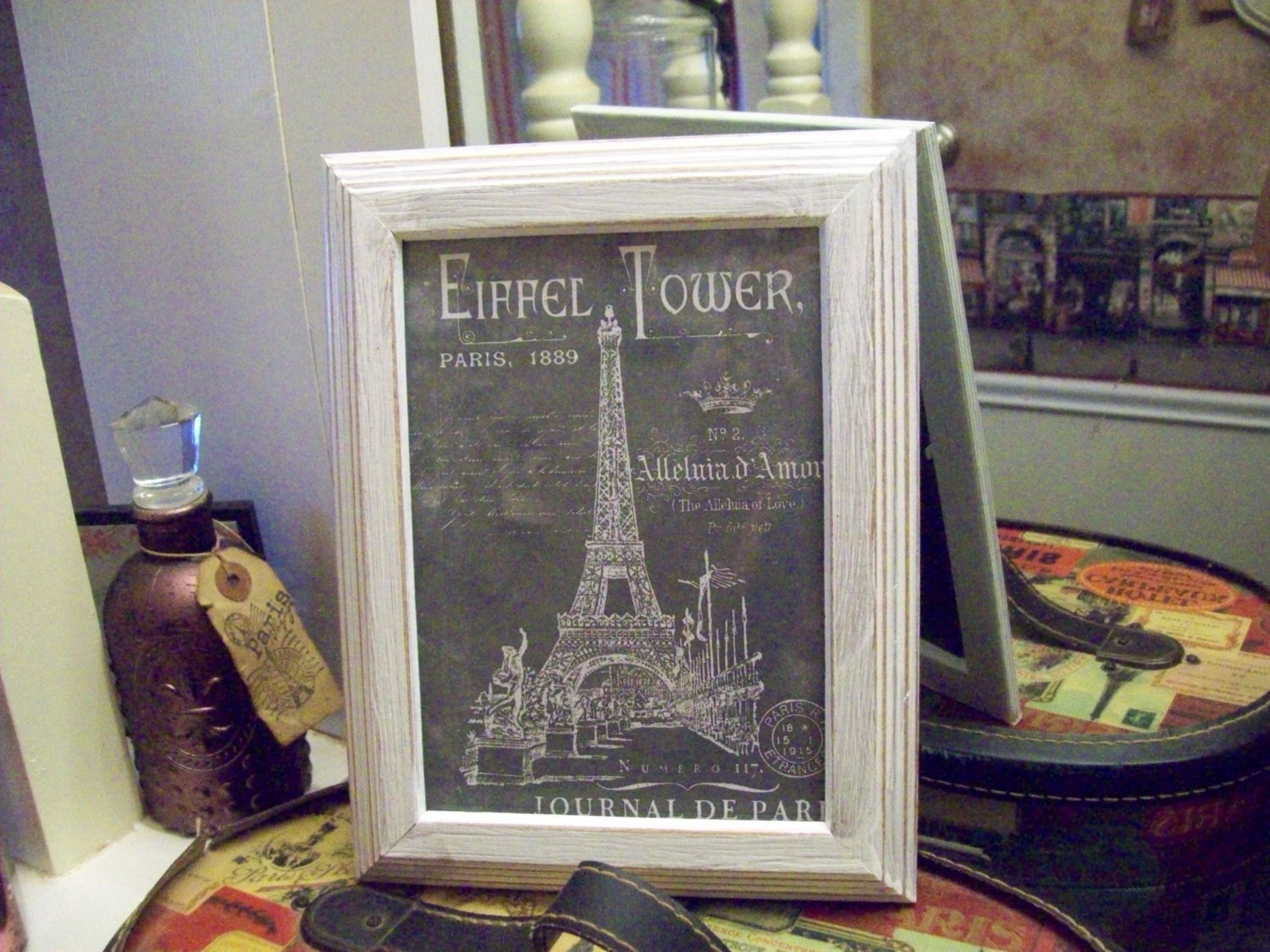 Shabby Chic Bedroom Decor Inspirational Shabby Chic 5x7 Chalkboard Look Eiffel tower Frame Paris Bedroom Decor Wall Decor French Bedroom Shabby Chic Paris Wall Decor