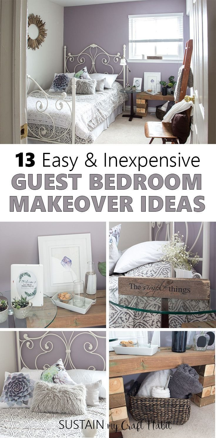 Shabby Chic Bedroom Decor Lovely Mauve Lous Guest Bedroom Ideas A Simple Spare Room Refresh