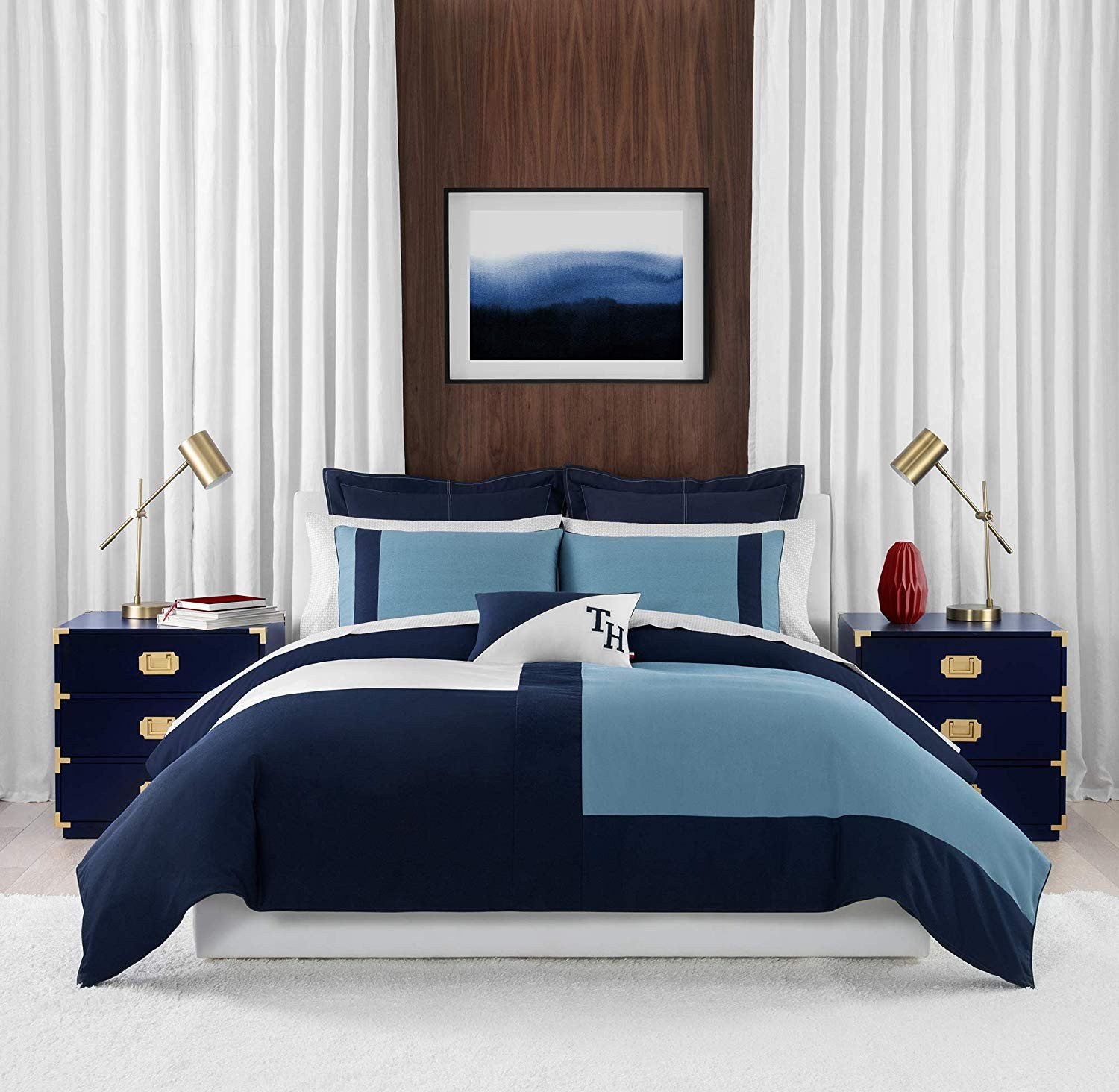 Shades Of Blue for Bedroom Fresh Amazon tommy Hilfiger Conscious Colorblock Bedding