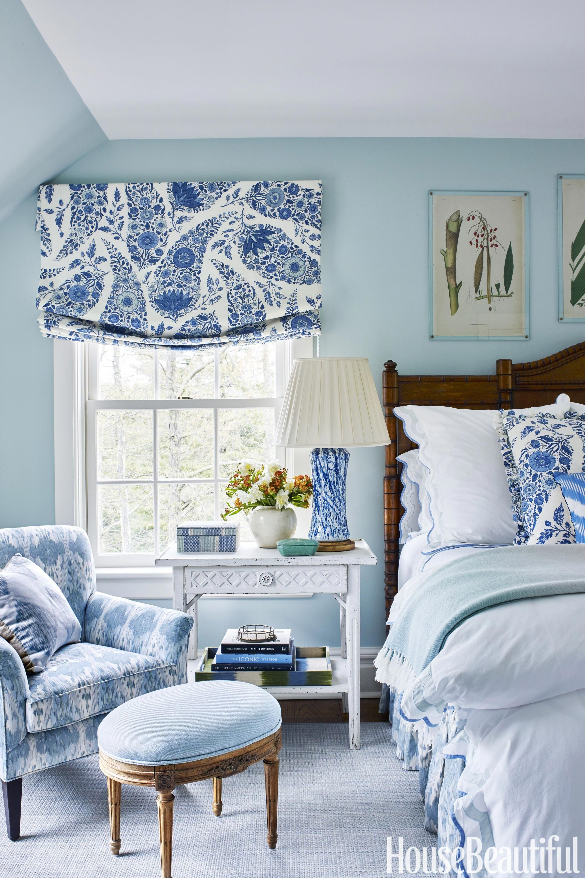 Shades Of Blue for Bedroom Fresh Bedroom Classic Blue and White Makes An Appearance In the