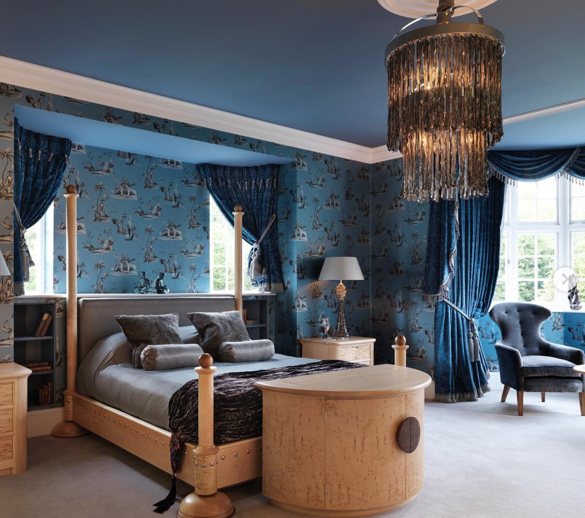 Shades Of Blue for Bedroom Fresh the Opulent Blue Bedroom