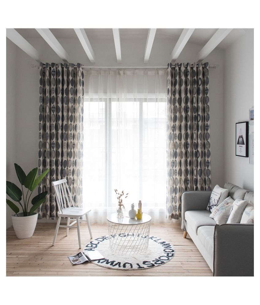 Short Curtains for Bedroom Beautiful Cocoshope Curtains Fashionable Simple Circles Pattern