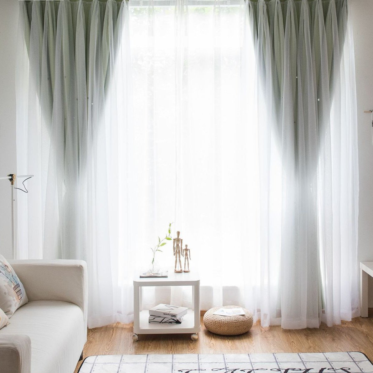Short Curtains for Bedroom Elegant Child Ethnic Tall Skirting Window order Bay Window Two Pieces Group Cheap Short Two Leaves Bedroom Horse Mackerel Ann One Piece Modishness Of Two
