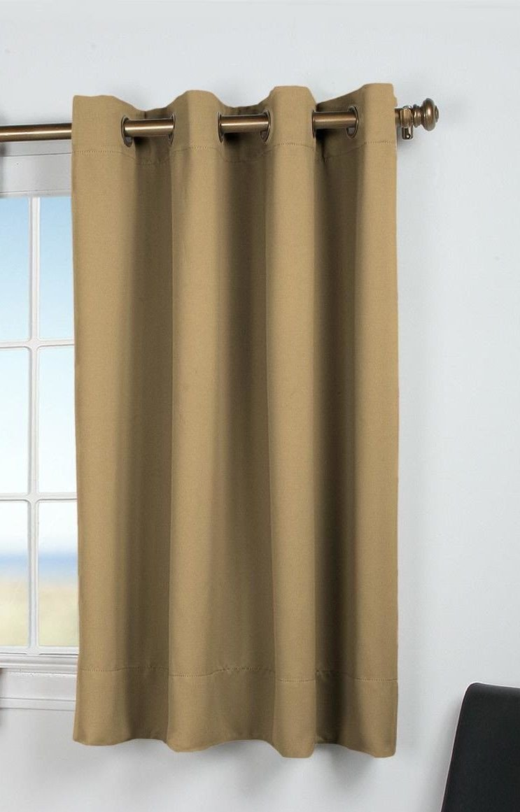 Short Curtains for Bedroom Elegant Ultimate Black Out Short Single Curtain Panel