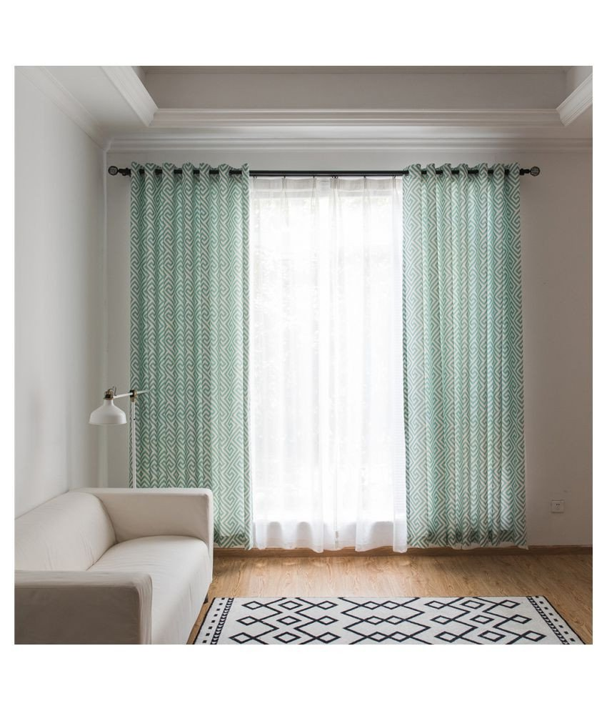 Short Curtains for Bedroom Fresh Cocoshope Curtains Fresh Maze Printing Pattern Decorative