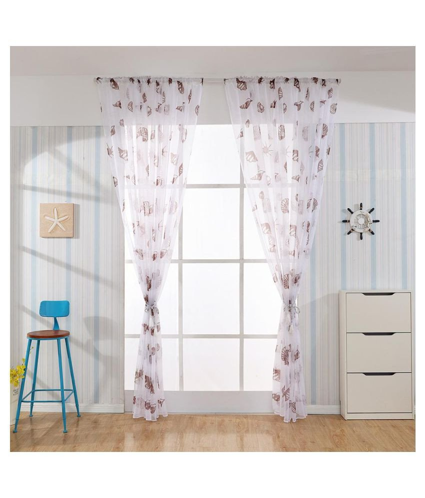Short Curtains for Bedroom Lovely Sea Snail Print Blackout Curtains Living Room Window Drapes