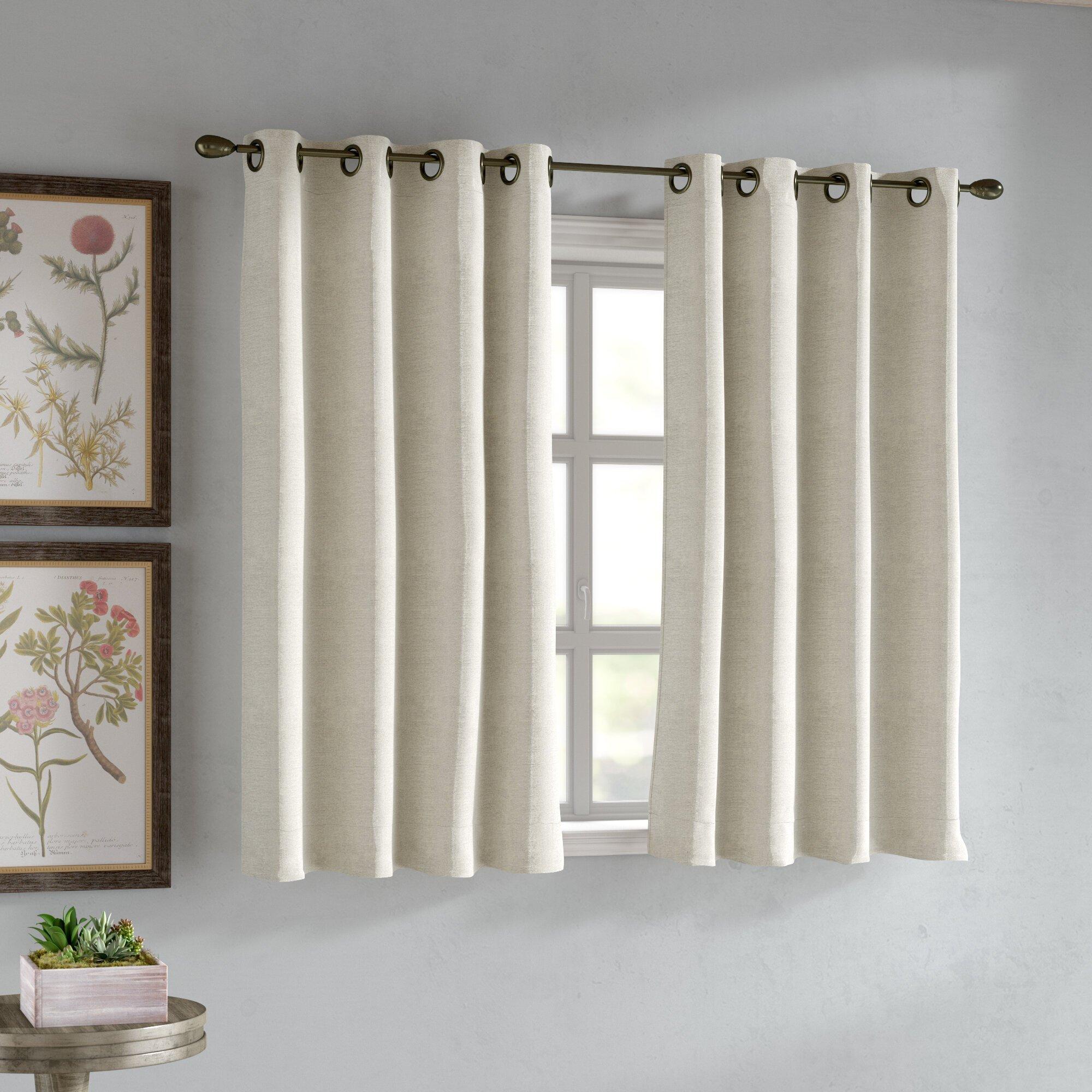 Short Curtains for Bedroom Windows Inspirational Gleason Short solid Room Darkening Grommet Single Curtain Panel