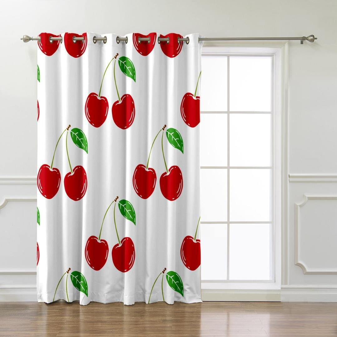 Short Curtains for Bedroom Windows New 2019 Cherry Room Curtains Window Bedroom Kitchen Fabric Indoor Decor Swag Window Treatment Ideas Curtain Panels From Hibooth $22 13