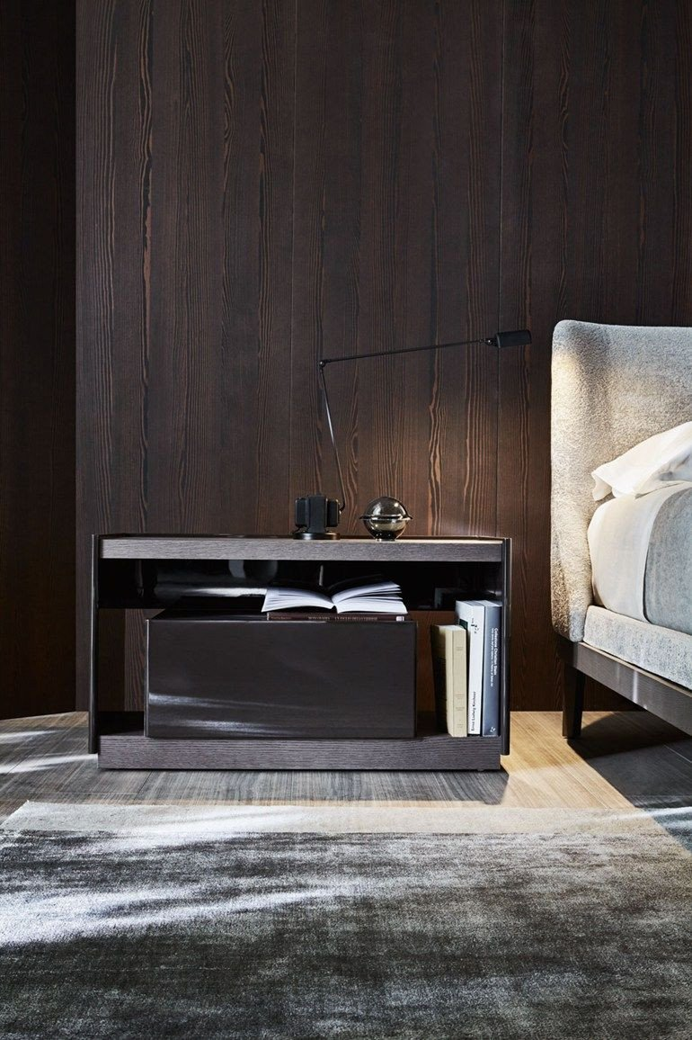 Side Table for Bedroom Fresh Wooden Bedside Table with Drawers 5050