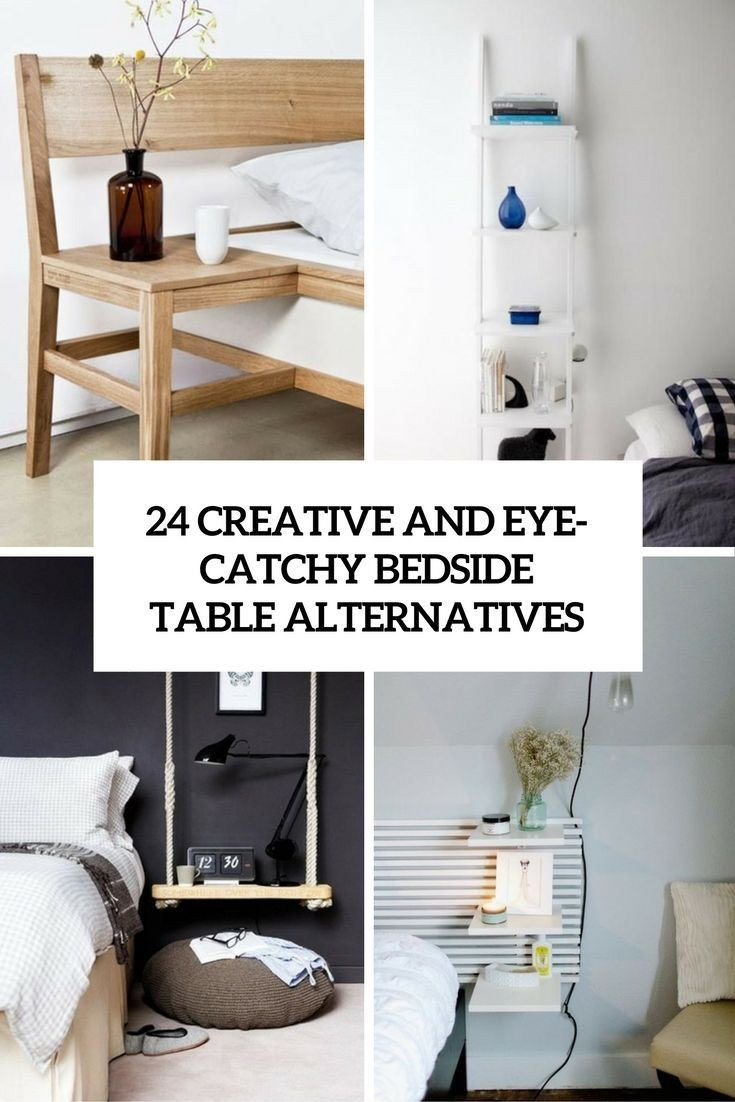 Side Table for Bedroom Inspirational Cool and Eye Catchy Bedside Table Alternatives