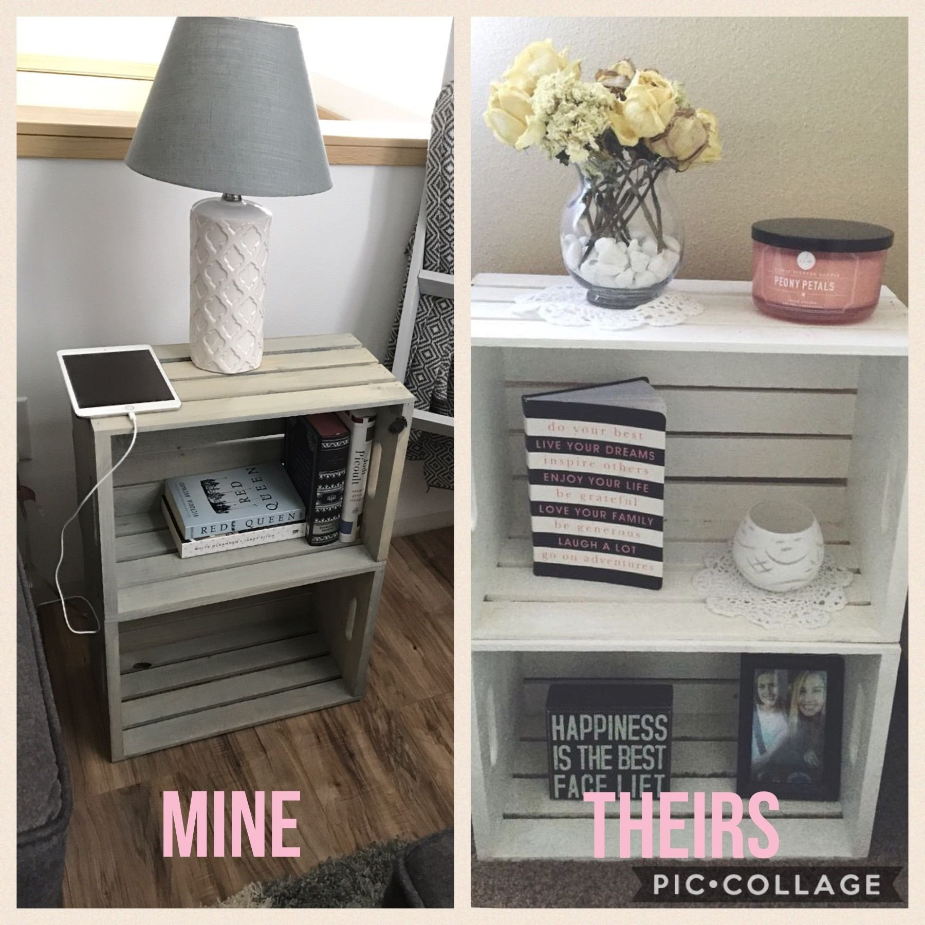Side Table for Bedroom New Love This Night Stand End Table Made Of Crates Diy
