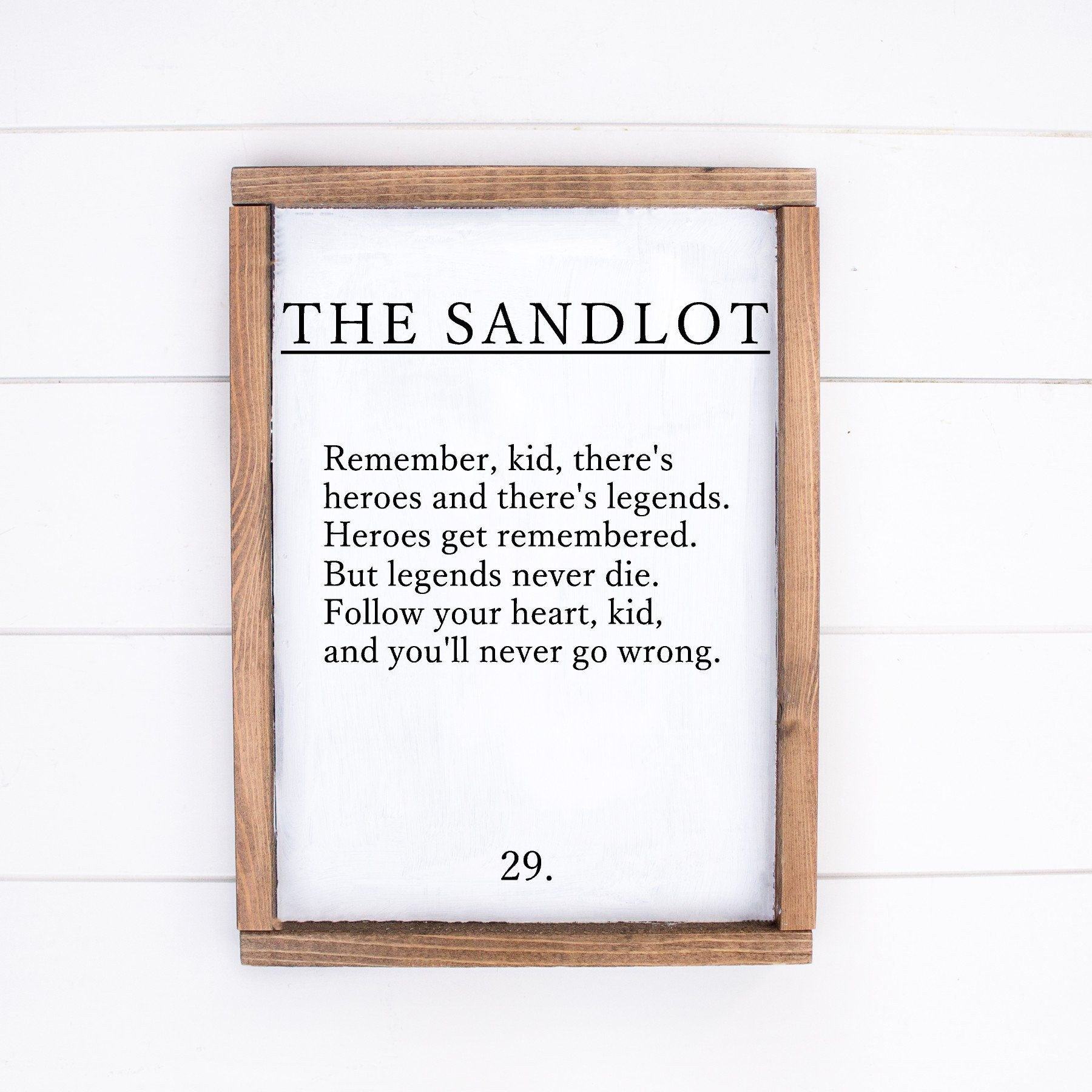 Signs for Bedroom Walls Fresh the Sandlot Quote Wooden Sign