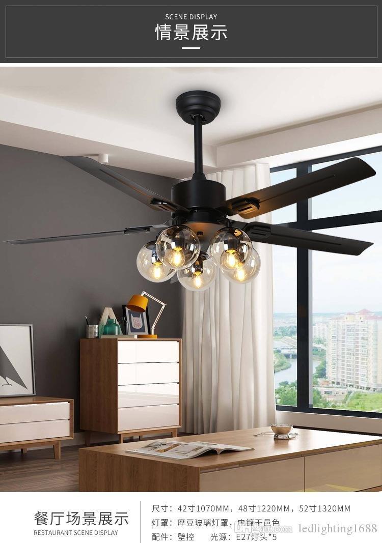 Silent Fan for Bedroom Elegant 2019 Living Room Black Ceiling Fan Light Simple Modern nordic Fan Light Home Bedroom Restaurant Silent Led Fan Light From Ledlighting1688 $298 5