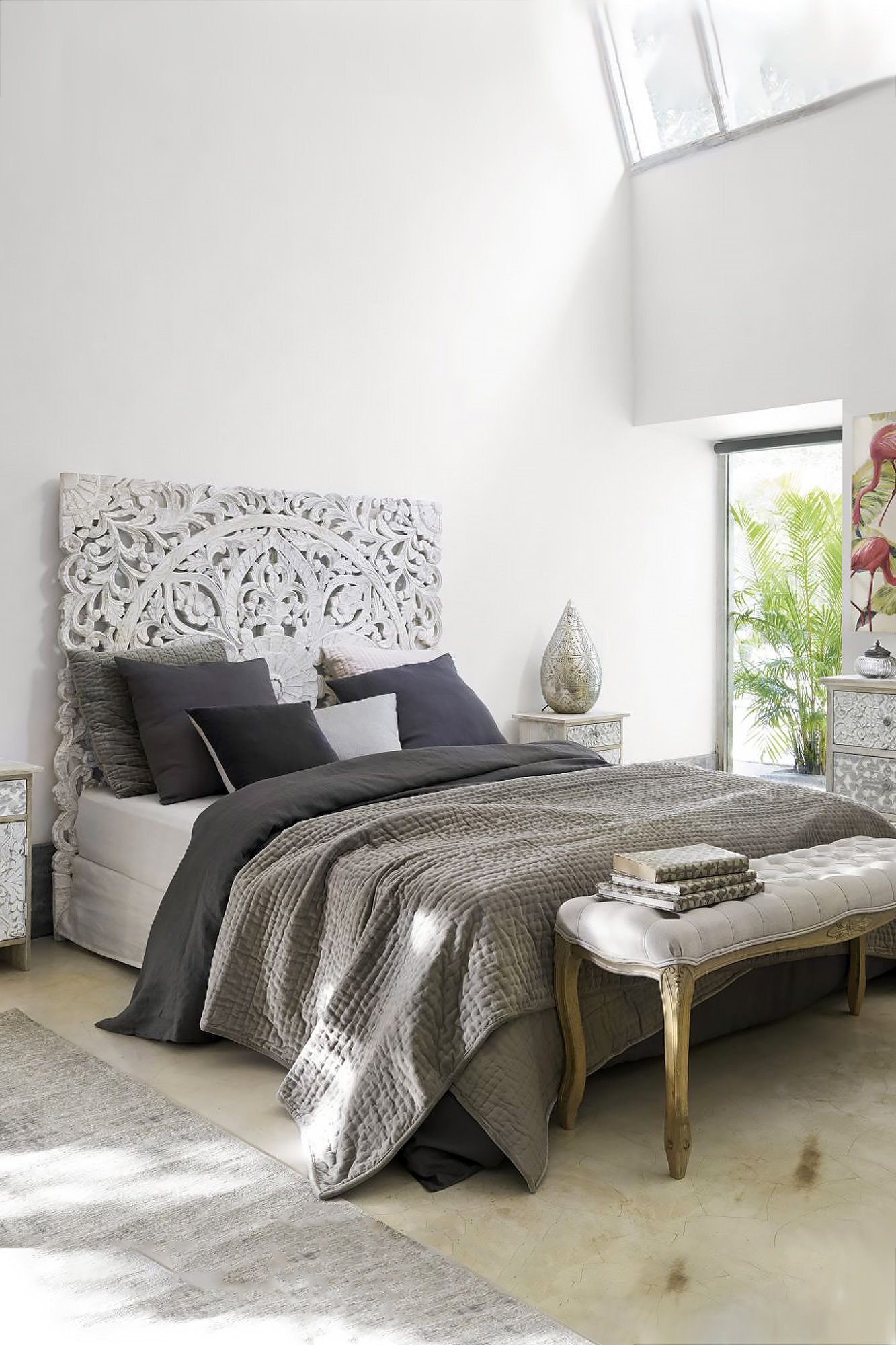 Silver Grey Bedroom Furniture Best Of Queen Headboard Beach Cottage Bed Decoration