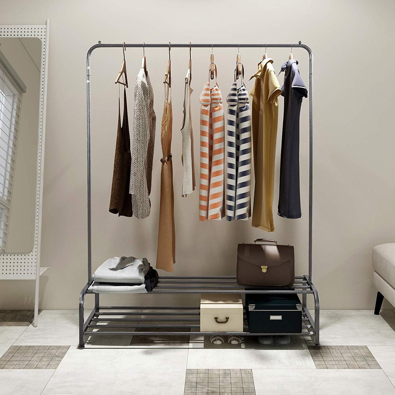 Silver Grey Bedroom Furniture Elegant Amazon Dumee Metal Garment Rack Heavy Duty Indoor