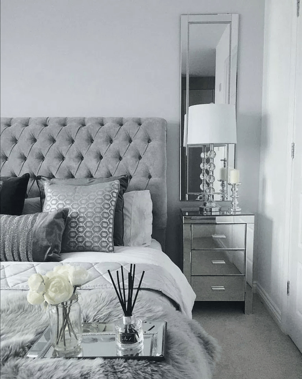 Silver Grey Bedroom Furniture Lovely 32 Popular Grey Bedroom Decoration Ideas In 2020