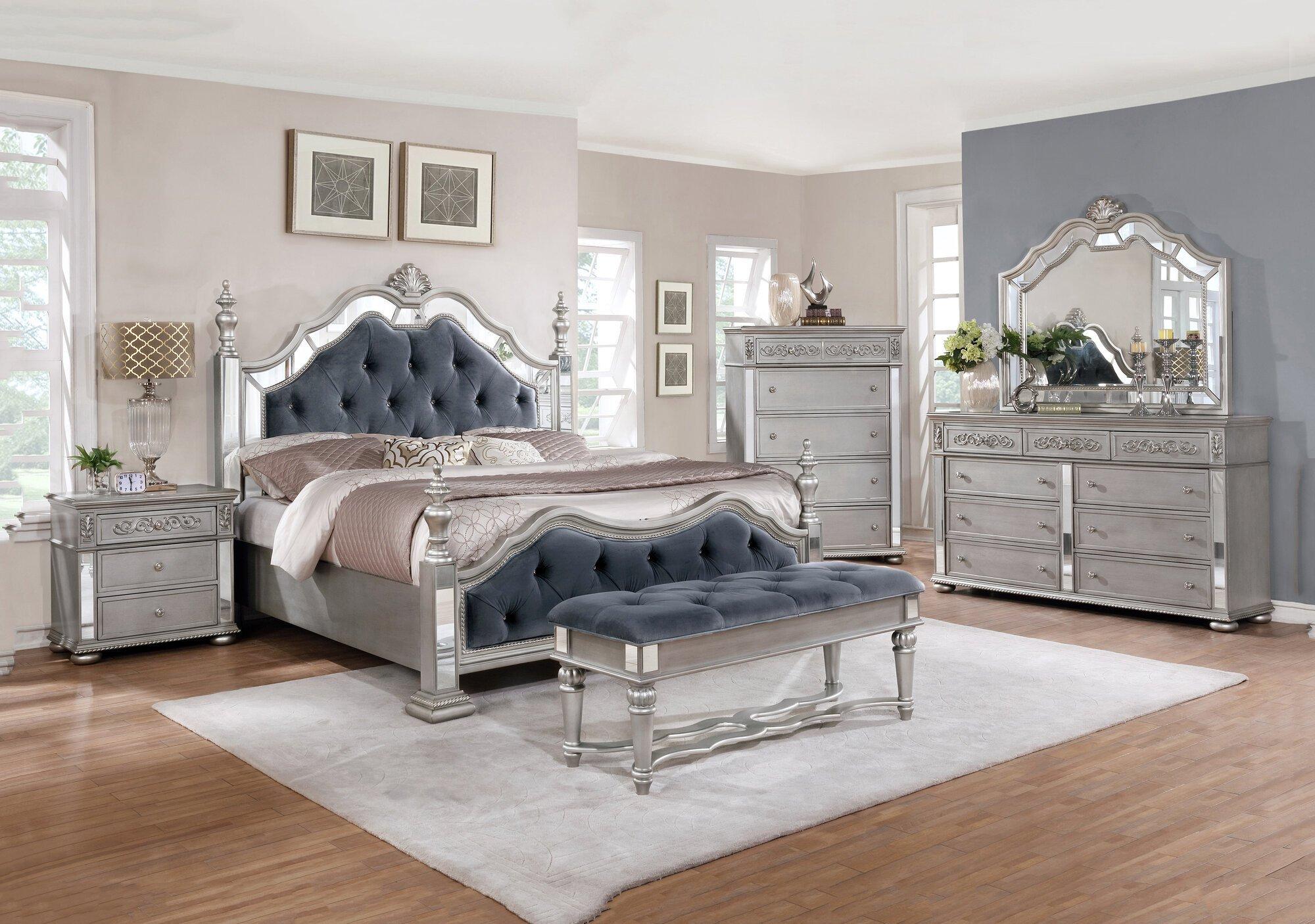 Silver Grey Bedroom Furniture New Details About Rosdorf Park Kenton Standard 5 Piece Bedroom Set