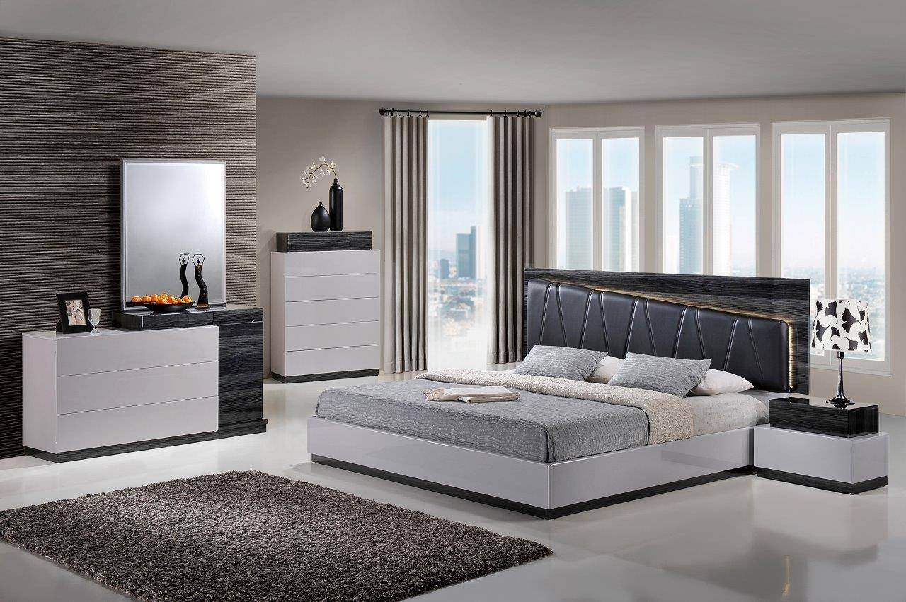 Silver Grey Bedroom Furniture New Global Furniture Lexi S Gr Silver & Zebra Grey High Gloss