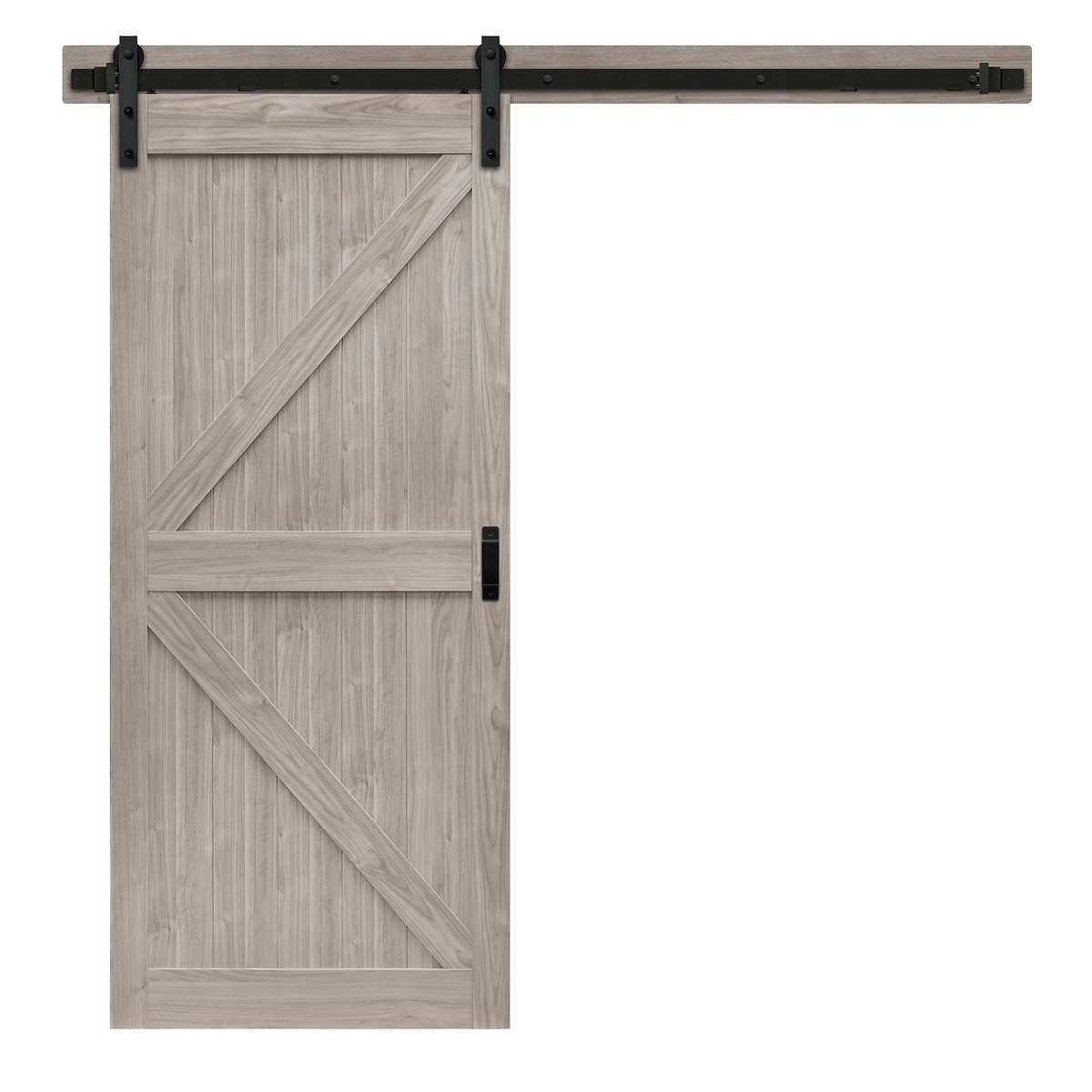"Sliding Barn Door for Bedroom Fresh Renin 36"" K Design Barn Door with Hardware Kit & Easy Glide soft Close"