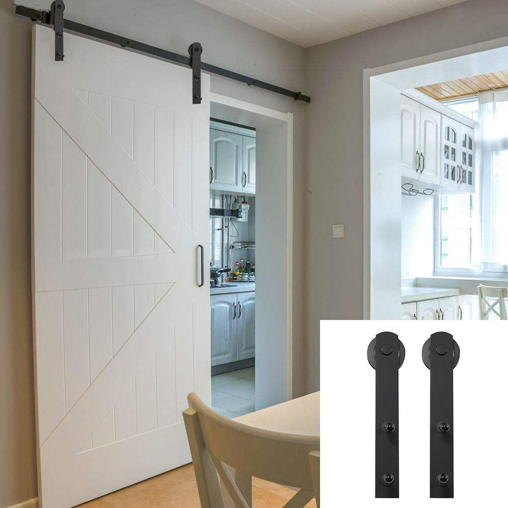 Sliding Barn Door for Bedroom Inspirational Winsoon Country Straight Wheel Exterior Diy Barn Door Track Sliding Single Hardware Black Rail Steel Roller Kit 6 6ft Single Door Set