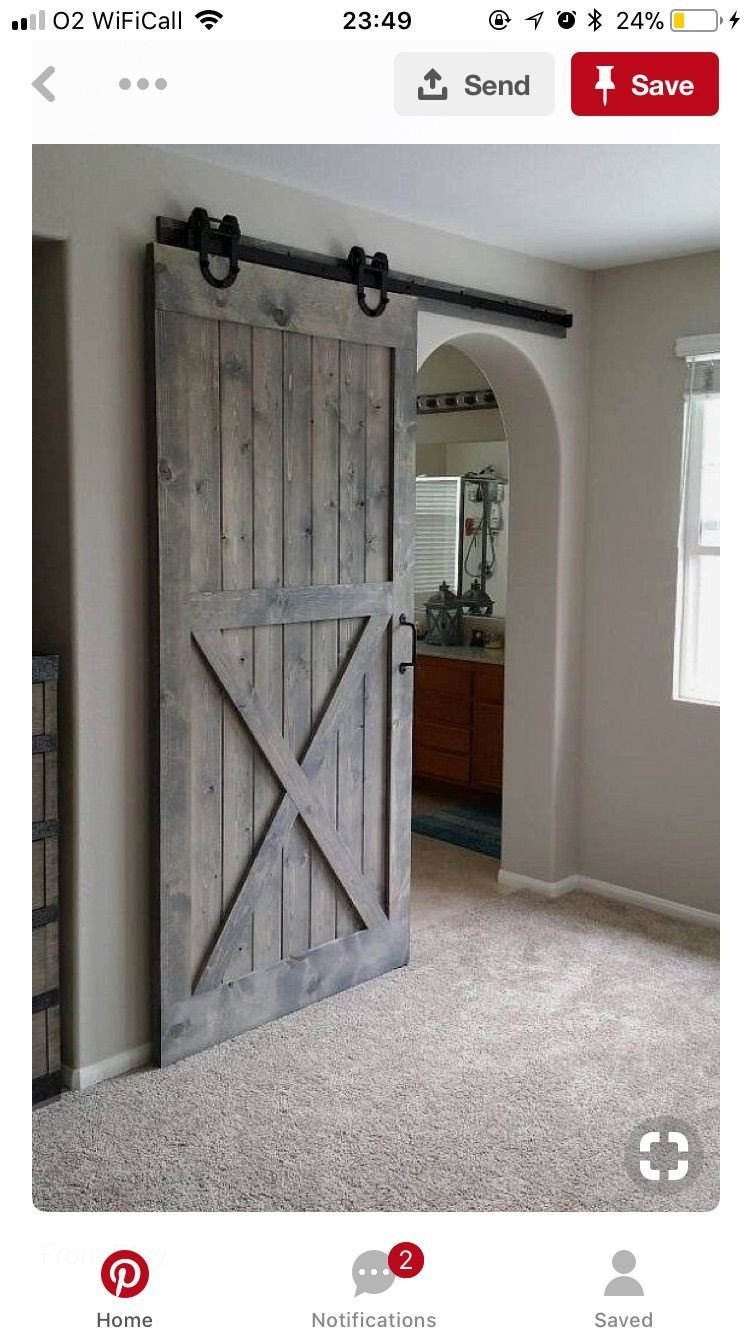 Sliding Barn Door for Bedroom New Rolling Bar All the Way Down From Kitchen to Bedroom Hallway