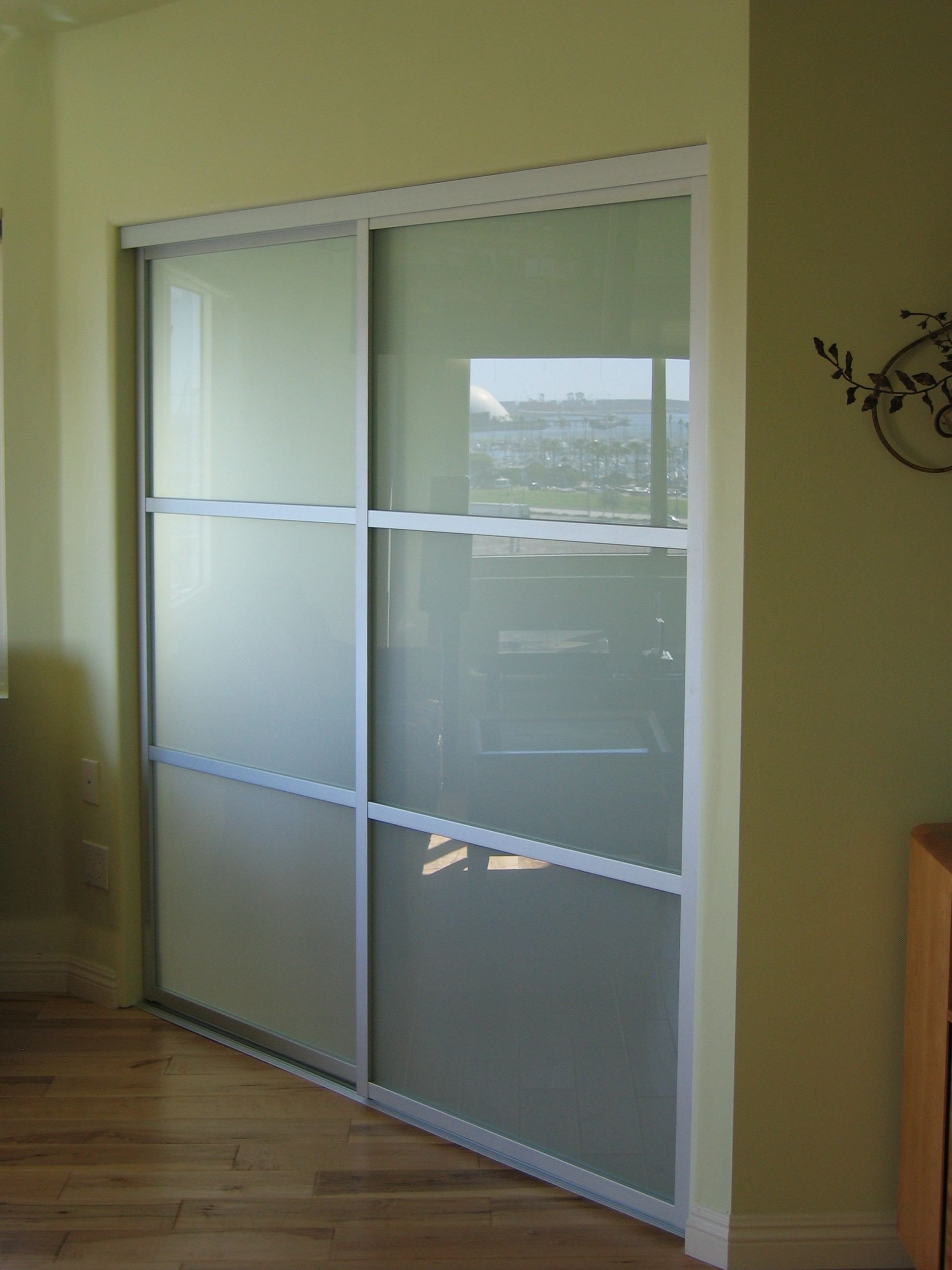 Sliding Doors for Bedroom Awesome Frosted Glass and A Silver Frame Finish are A Perfect Match