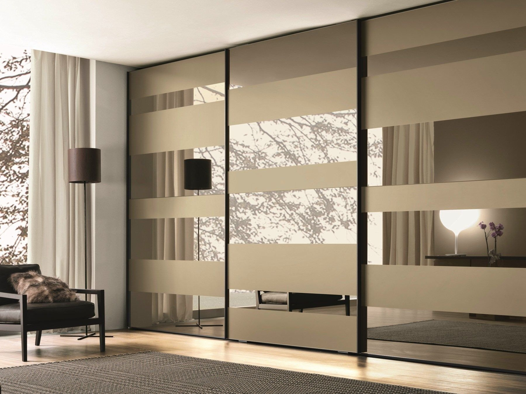 Sliding Doors for Bedroom Luxury Lacquered Wooden Wardrobe with Sliding Doors Segmenta New