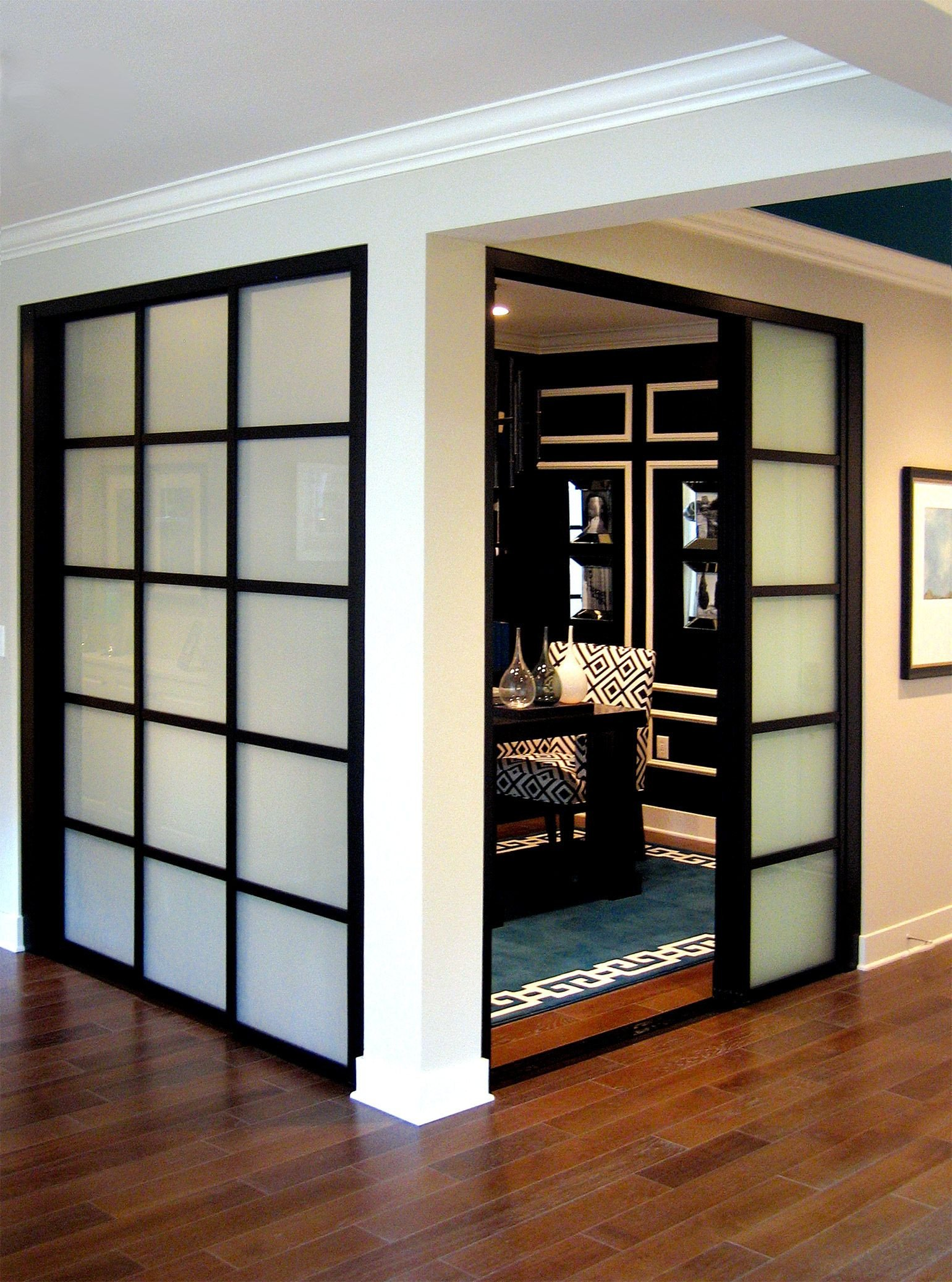 Sliding Doors for Bedroom Unique Wall Slide Doors with Laminated Glass & Black Frame