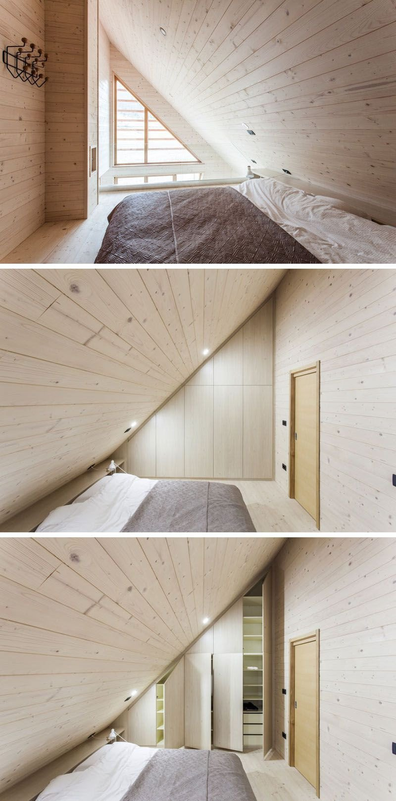 Sloped Ceiling Bedroom Ideas Awesome the Dark Exterior This Wood House Encloses A Light