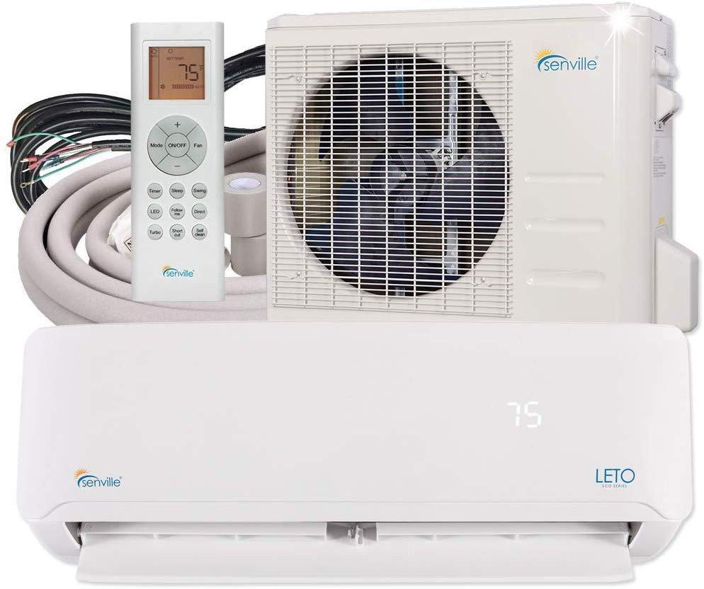 Small Bedroom Air Conditioner Beautiful Senville Senl 18cd Mini Split Air Conditioner Heat Pump Btu 19 Seer