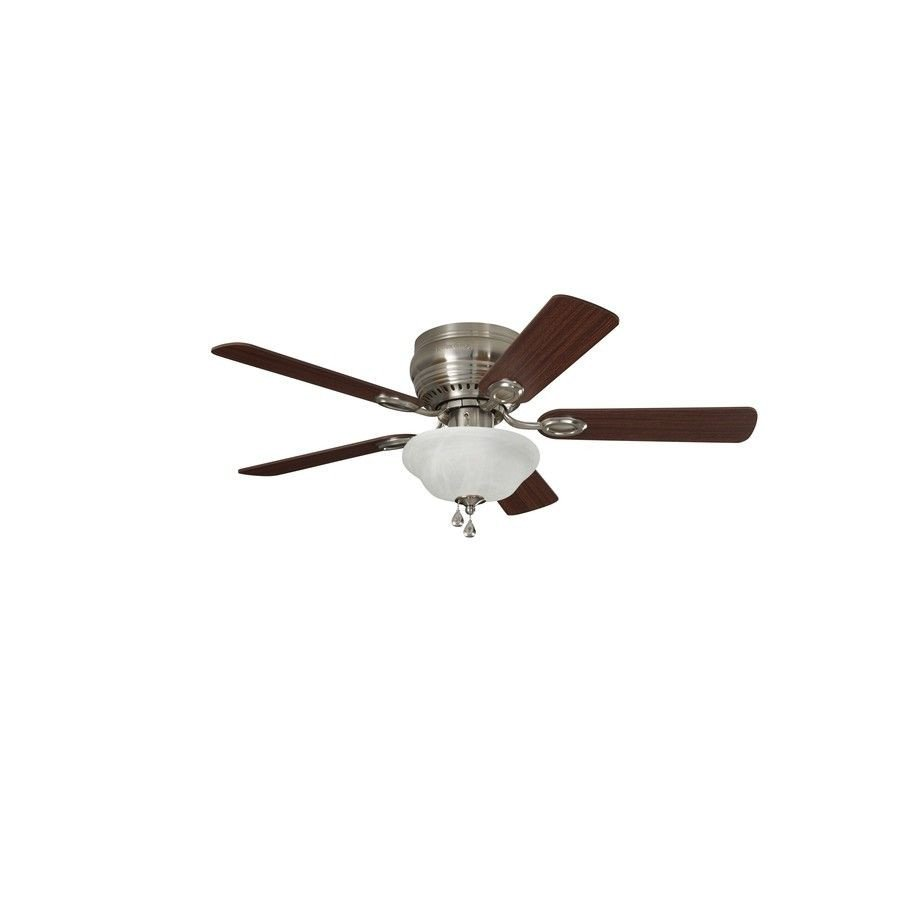 Small Bedroom Ceiling Fan Fresh Harbor Breeze Mayfield 44 In Brushed Nickel Indoor Flush