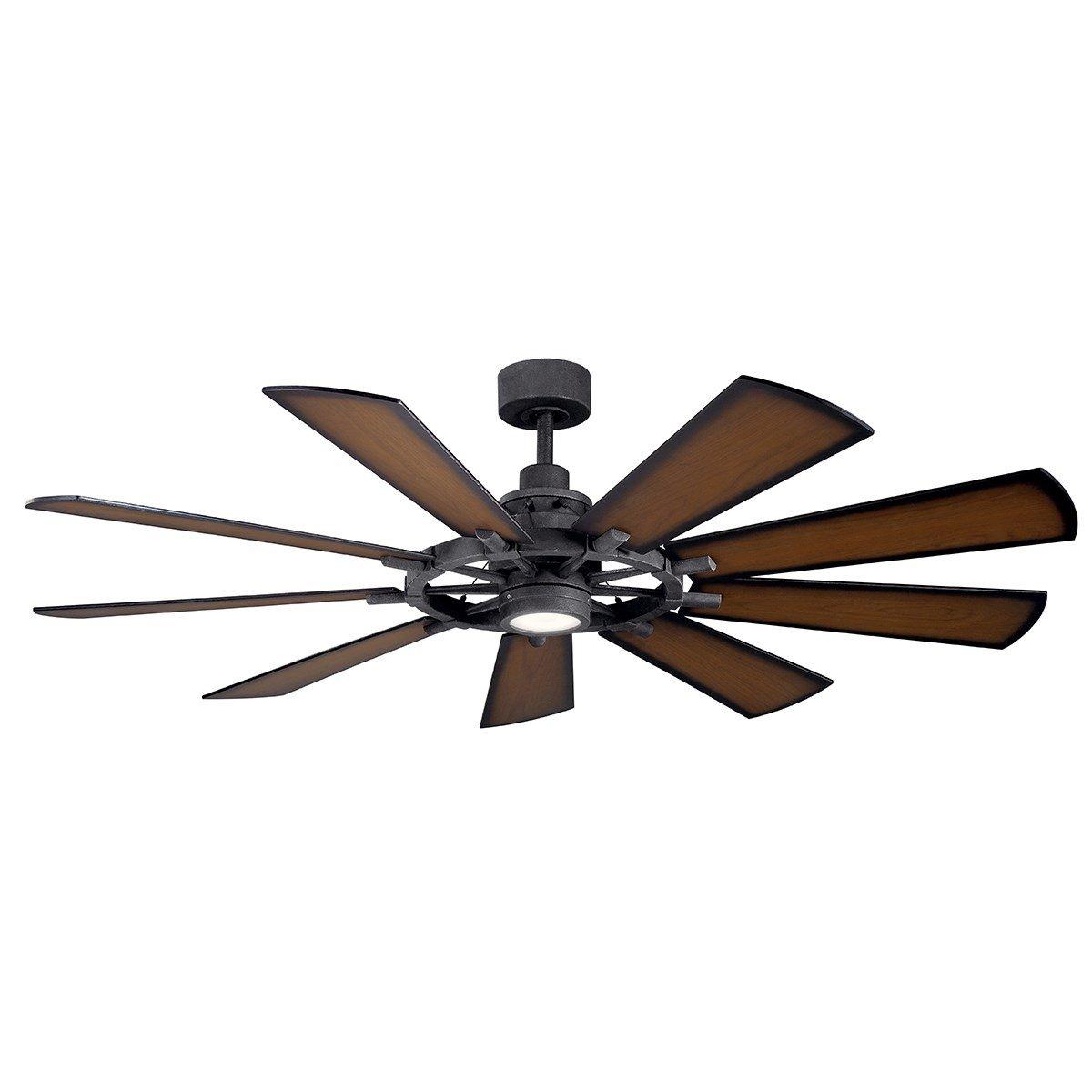 """Small Bedroom Ceiling Fan Lovely Gentry Led 65"""" Fan Distressed Black"""