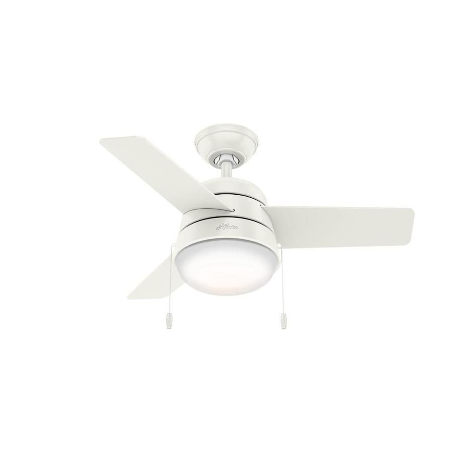 Small Bedroom Ceiling Fan Lovely Hunter Aker 36 In Fresh White Indoor Downrod Close Mount