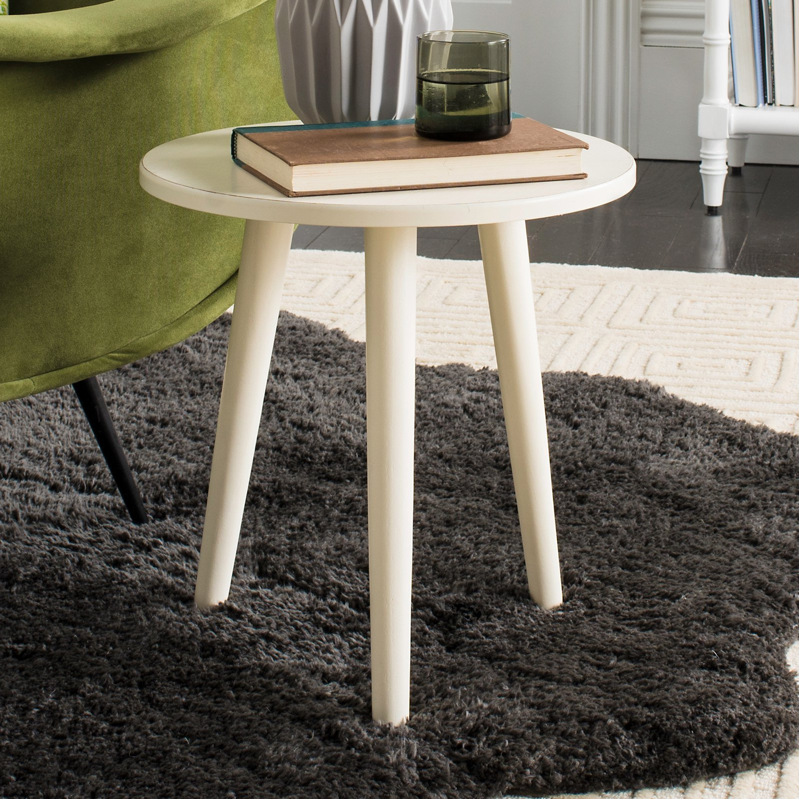 Small Bedroom End Tables Awesome Safavieh orion Round Accent Table Slate Gray In 2019