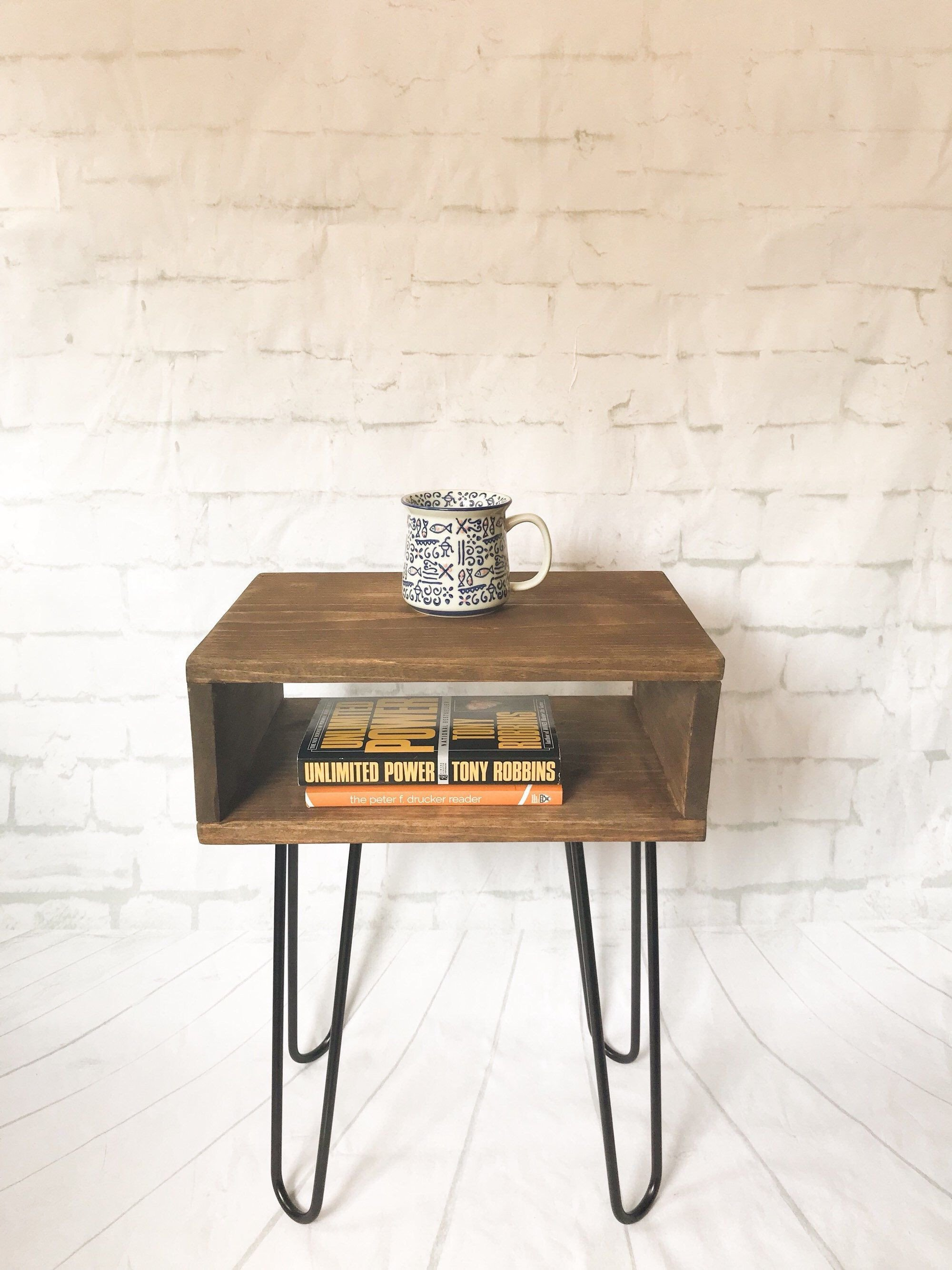 Small Bedroom End Tables Beautiful Handmade Real Wood Nightstand Bed Side Table Mid Century